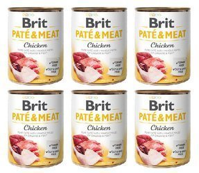 Brit Pate&Meat Chicken Kurczak 6x800g
