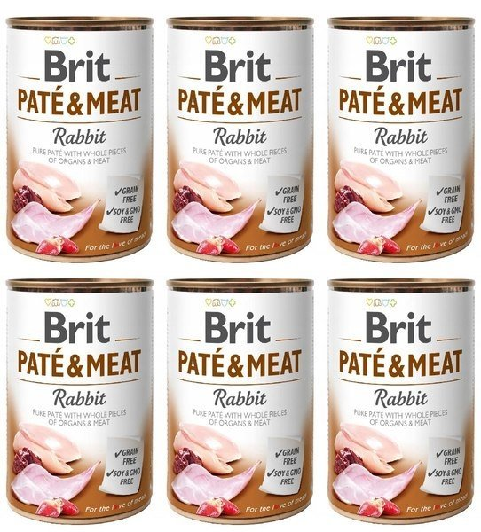 Brit Pate&Meat Rabbit 6x400g